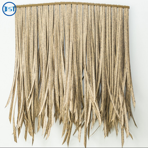 pe fireproof artificial Palm synthetic thatch