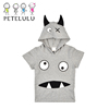 Demon Design Cute Kids Dress Clothes For Boys 100% Cotton Trendy Kids T-shirt Clothing