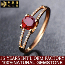hot sale african gold jewelry 14k gold inlay Sri Lanka red ruby natural stone ring with diamond