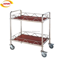 classic liquor stainless steel service trolleys hotel wine trolley for hotel articles C-004
