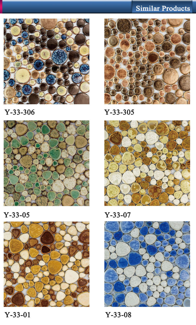 hsm123 latest garden design glass pebble for mosaic tile - buy