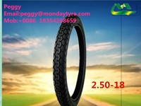 made-in China manufacture motorcycle and bicycle tires2.50-18
