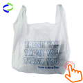 White Plastic T-shirt Shopping Bags (6x4x15-13mic)