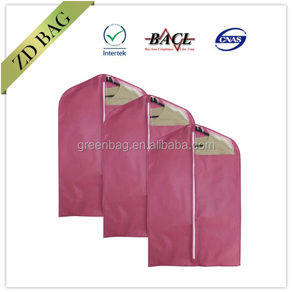 pink cheap nonwoven wedding dress cover