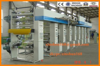 XS-ASY Six Colors Gravure Printing Machine,Roto Printing Machine,Rotogravure Printing Machine