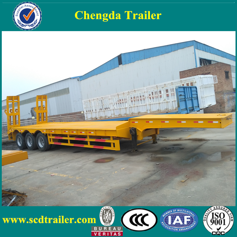 low bed semi trailer 60 ton and lowboy trailer