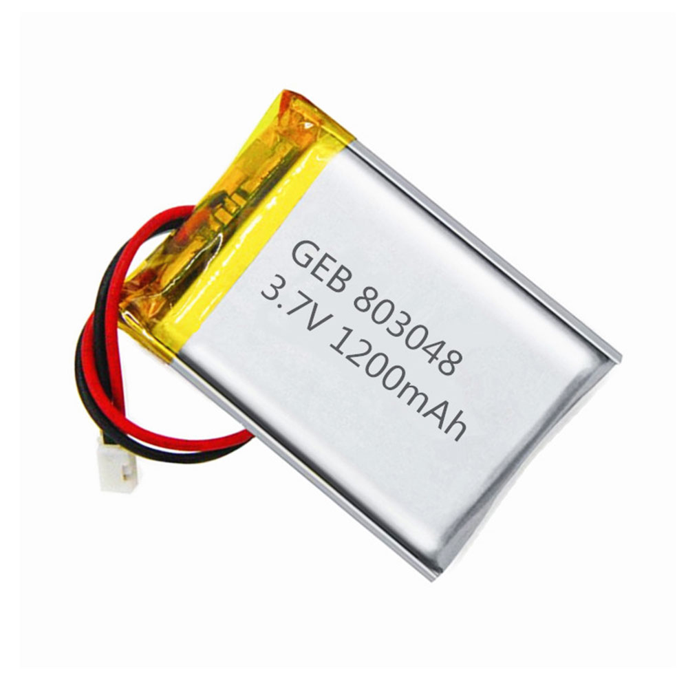 Rechargeable lithium battery GEB803048 3.7v 1200mah lipo battery for flashlights