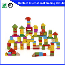 Wooden toys city 88PCS building blocks for children