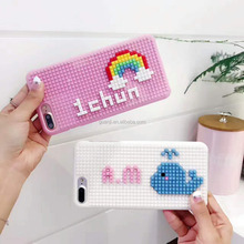DIY Customization Wholesale 3D silicone building block mobile phone case