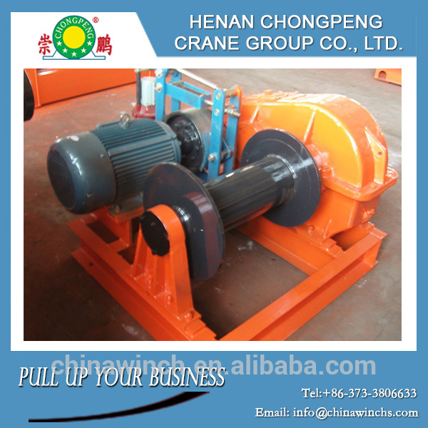 Construction wire rope electric cable pulling winch machine