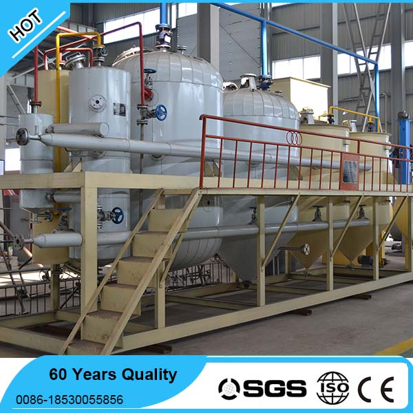 Crude Edible oil refinery machine with dewaxing process