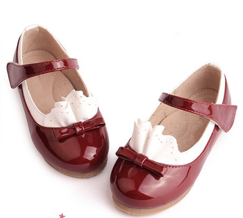 2013 New Girls Cute Bow Princess Shoes Little Girls Petals Very Nice Flats Shoes Children School Shoes