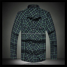 new product in china market cheap price man plaids 100 percent cotton t shirts