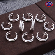 Factory Wholesale 925 Silver Women New Design Toe Rings beach holiday gift