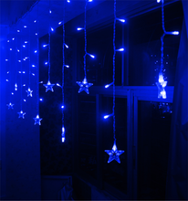 hot sale color changing christmas decoration lighted star