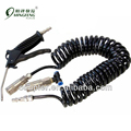 Black air gun with black pu coiled pipe