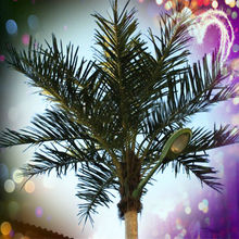 outdoor solar led palm tree light artificial plant landscaping lighting china steel lighting rods factory