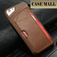 Newest style hot sale promotion mobile phone case cover with card slot TPU PU leather for apple iphone 6 case cover
