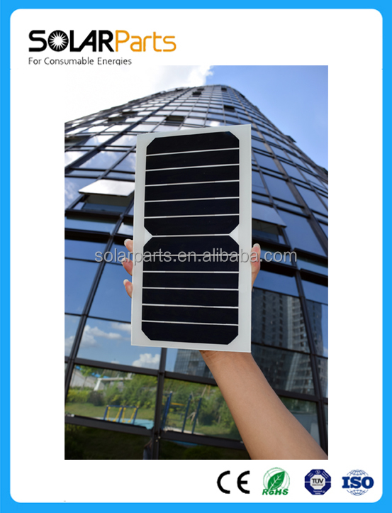 High Efficiency Sunpower Cell 6V 6.5W Small Solar Panel for Phone Charge use