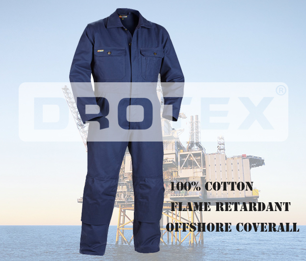 100% Cotton Safety Flame Fire Retardant Workwear Coverall Suit,Winter Offshore Fireproof Fr Working Coverall For Oil And Gas