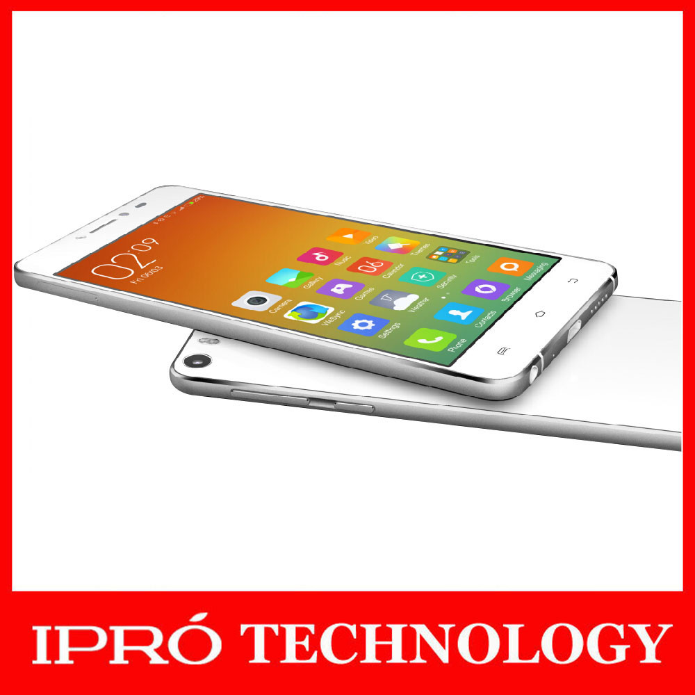 "IPRO 2015 Wholesale China Mobile Phone Glass Screen 5"" Super Thin Cellular Phone Android Lollipop Smartphone 2G+16G Dual SIM"