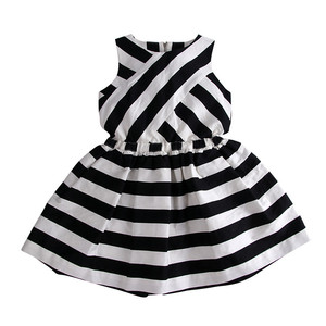 Top One Sale Boutique Summer Girls Dresses Cotton Ruffle Sleeve Baby Skirt Design