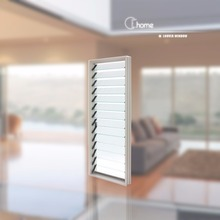 Top supplier Echome construction Australian standard aluminium alloy windows with double glass and louvres