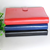 High quality promotion custom stationary PU leather notebook cover with colored paper