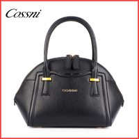 2016 fashion ladies cowhide leather handbags with double zippers cossni 665