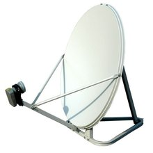 Ku band 75cm triangle ground mount satellite dish antenna