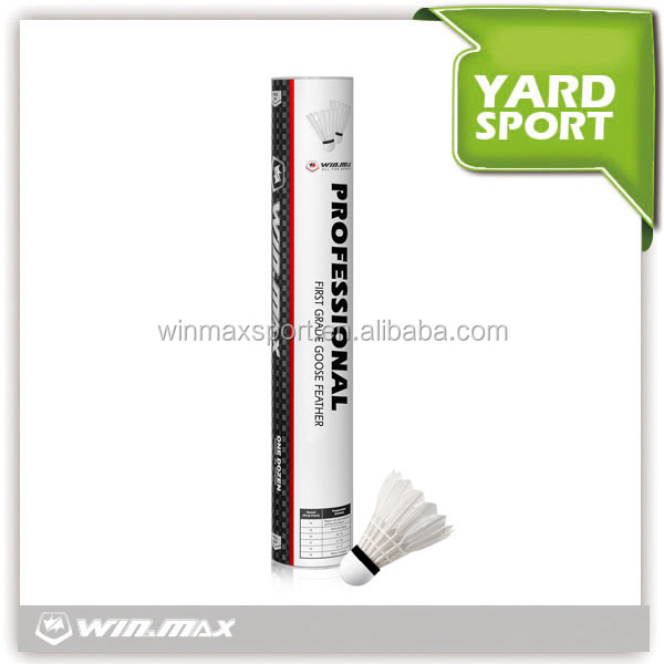 Winmax best selling good flight durable top grade badminton shuttlecock,badminton racket shuttlecock