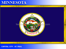 Free sample & NO MOQ flag customized flag,Minnesota flag