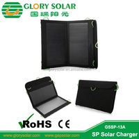 13W hangable foldable solar panel for camera ipad cell phone with key chain