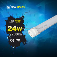CE ROHS milk cover 24w high quality 24w T8 Alu+PC led tube light 1500mm