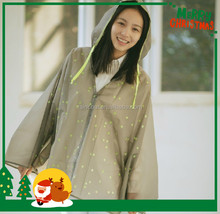 Waterproof cheap raincoat/rain cape/rainwear/rain poncho