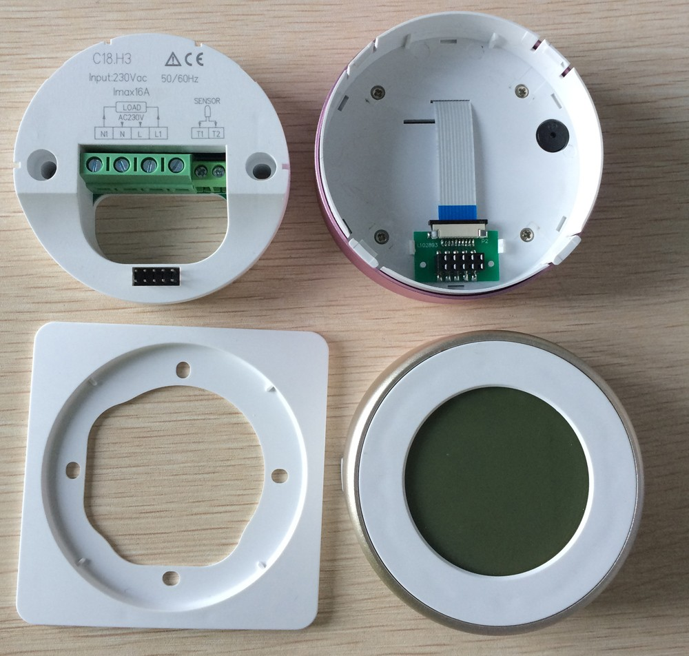 Electronic room thermostat for floor heating with Weekly programmable