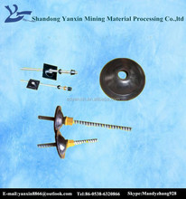 tunnel thread resin anchor bolt with shaped plate