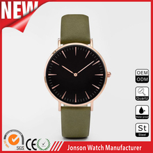 shenzhen jonson design your own 3atm water resistant quartz watch leather