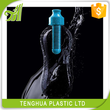 Hot seller BPA FREE plastic filtered water bottle with activated carbon filter/750ml water filter bottle