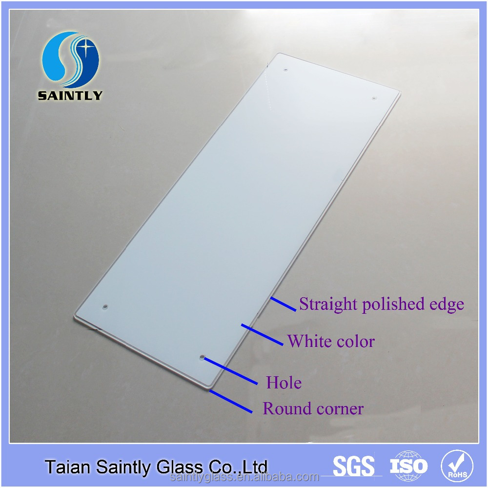 Manufacturer price 3mm 4mm standard size tempered glass