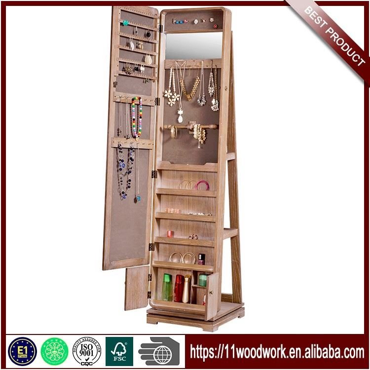 Chinese High Quality Wooden Mirror Jewelry Cabinet