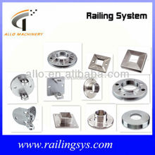 stainless steel handrail post base plate handrail pipe connector fittings round plate