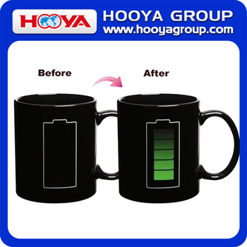 High technology heat temperature battery design color picture change cup