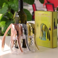 Hot selling good quality funny automatic rabbit wine bottle opener with foil cutter