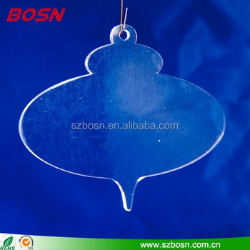 3.5 x 4 inches Clear Blank Acrylic Christmas Ornament pattern three,Plastic
