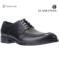 New style formal Black Snake embossing leather dress shoes for men