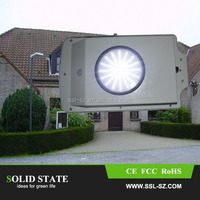 2015 Factory direct selling PIR motion sensor 6w solar street light