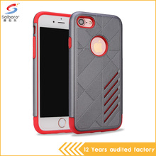 Alibaba hot selling shockproof TPU hybrid PC bumper phone case for iPhone 7