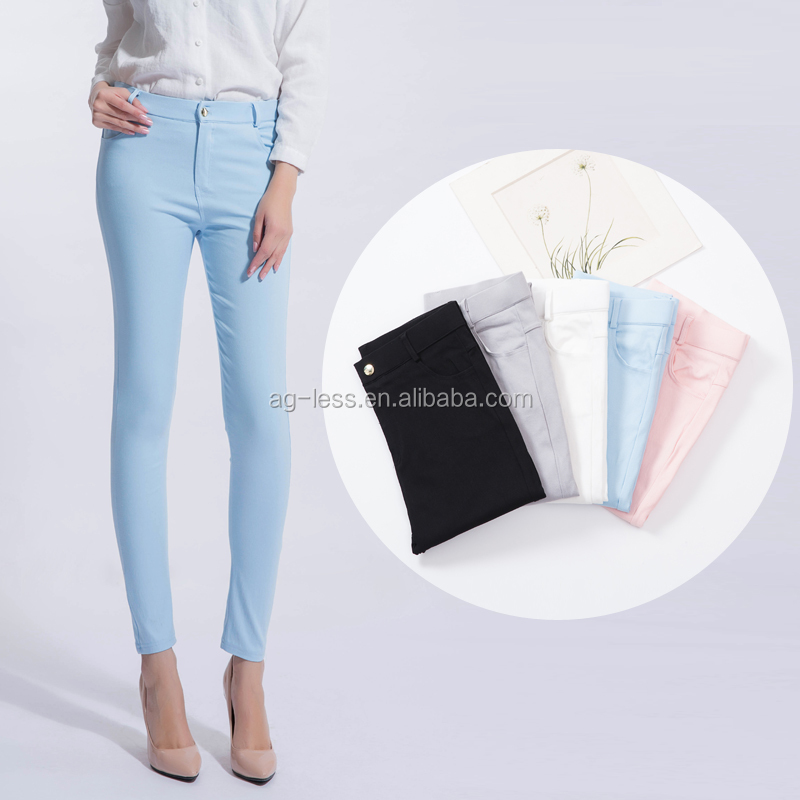 Ladies Denim Fit Stretch Pants Slim Skinny Colorful Woman Jeans