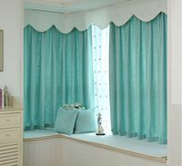 New arrival wholesale and retail customized chenille plain window decoration curtain